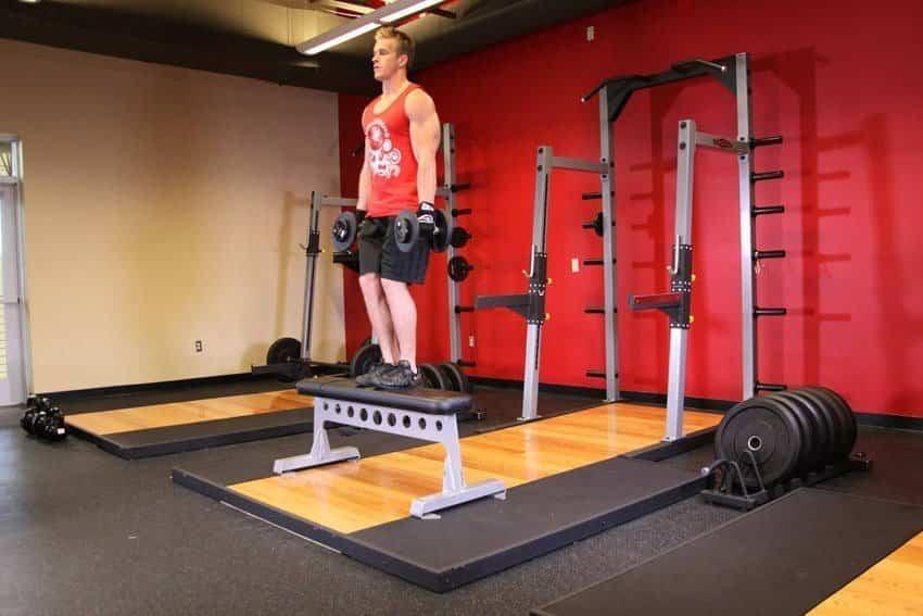 Step Up Up с гантелями - Упражнения для ног - GÜÇLÜYAŞA