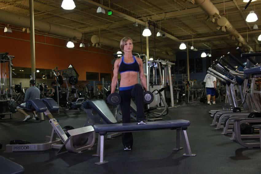 Dumbbell Step Up - Bacak Egzersizleri - GÜÇLÜYAŞA