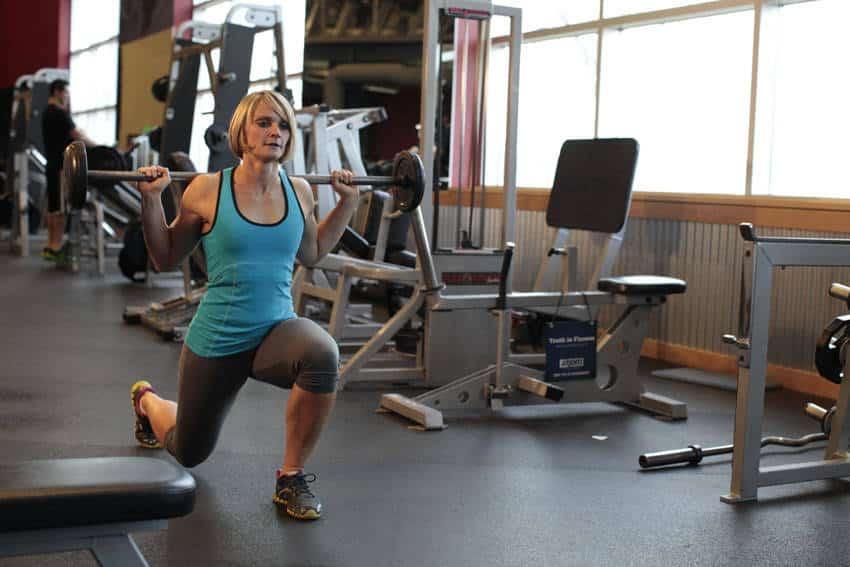 Barbell Walking Lunge - Bacak Egzersizleri - GÜÇLÜYAŞA