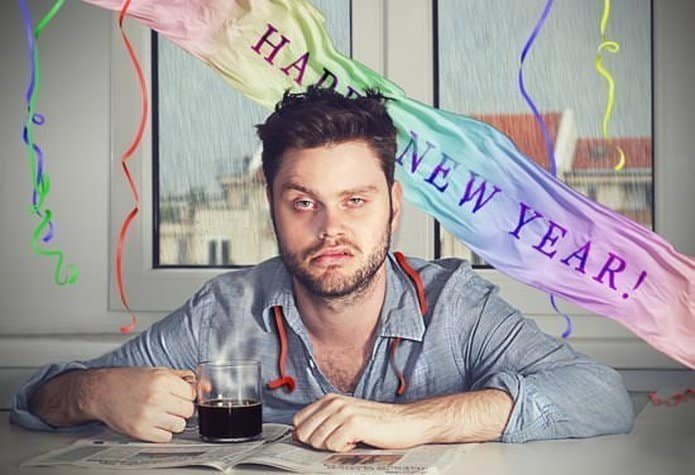 The Man Caught Being Drunk The Next Day After The New Year's Party