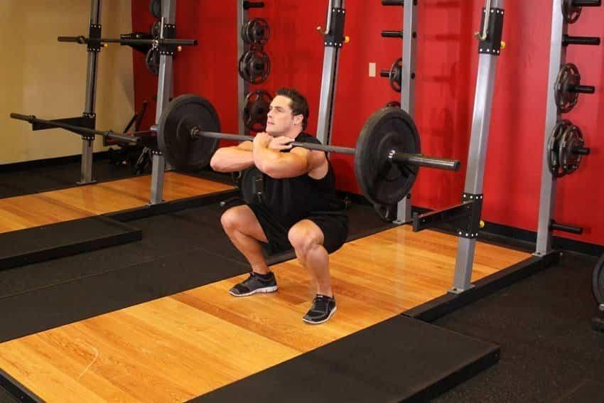 Приседания со штангой спереди - Упражнения для ног - GÜÇLÜYAŞA