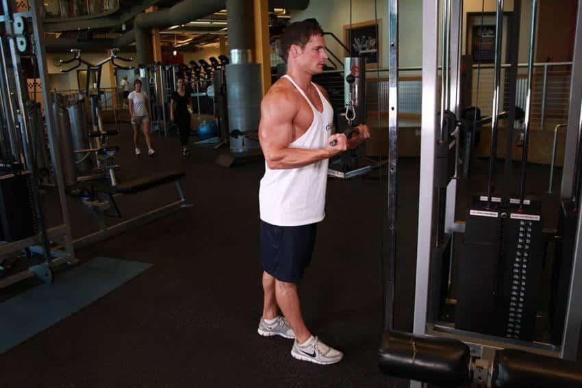 Käänteinen kahva Triceps Pushdown - Tricep-harjoitukset - TEHOKAS
