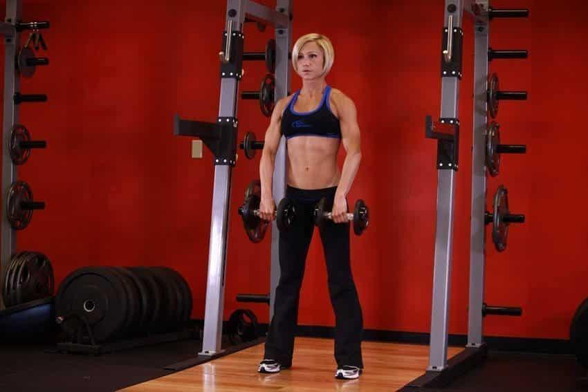 Standing Dumbbell Upright Row - Trapez Egzersizleri - GÜÇLÜYAŞA