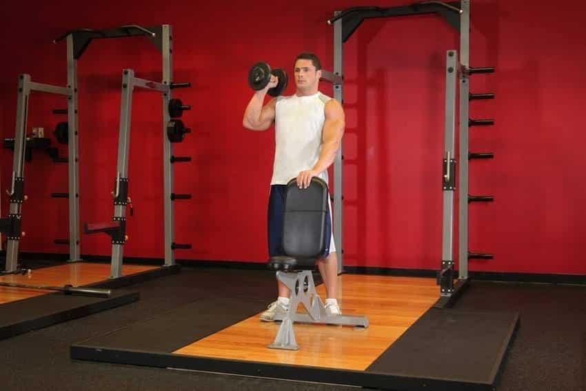 Standing Palm-In One-Arm Dumbbell Press - Omuz Egzersizleri - GÜÇLÜYAŞA